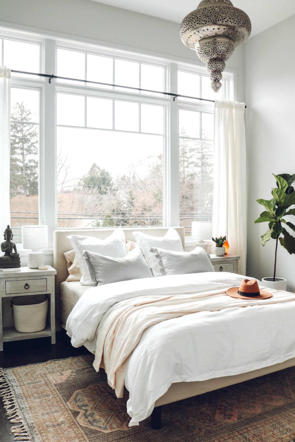 White Boho Master Bedroom Makeover Nesting With Grace
