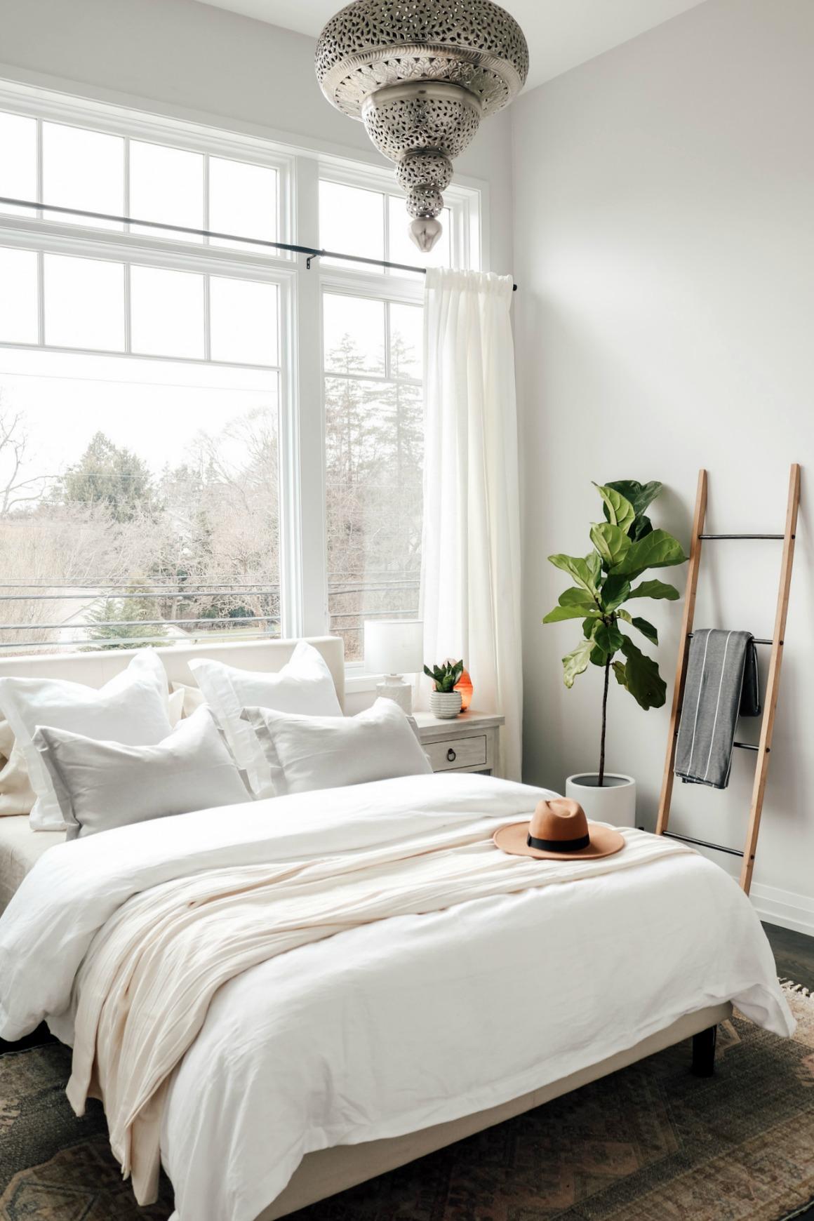 White Boho Master Bedroom Makeover - Nesting With Grace on Boho Master Bedroom Ideas  id=15664
