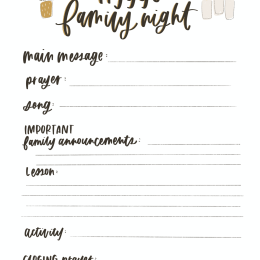 What We Do For Family Night - Steps to Successful Together Time