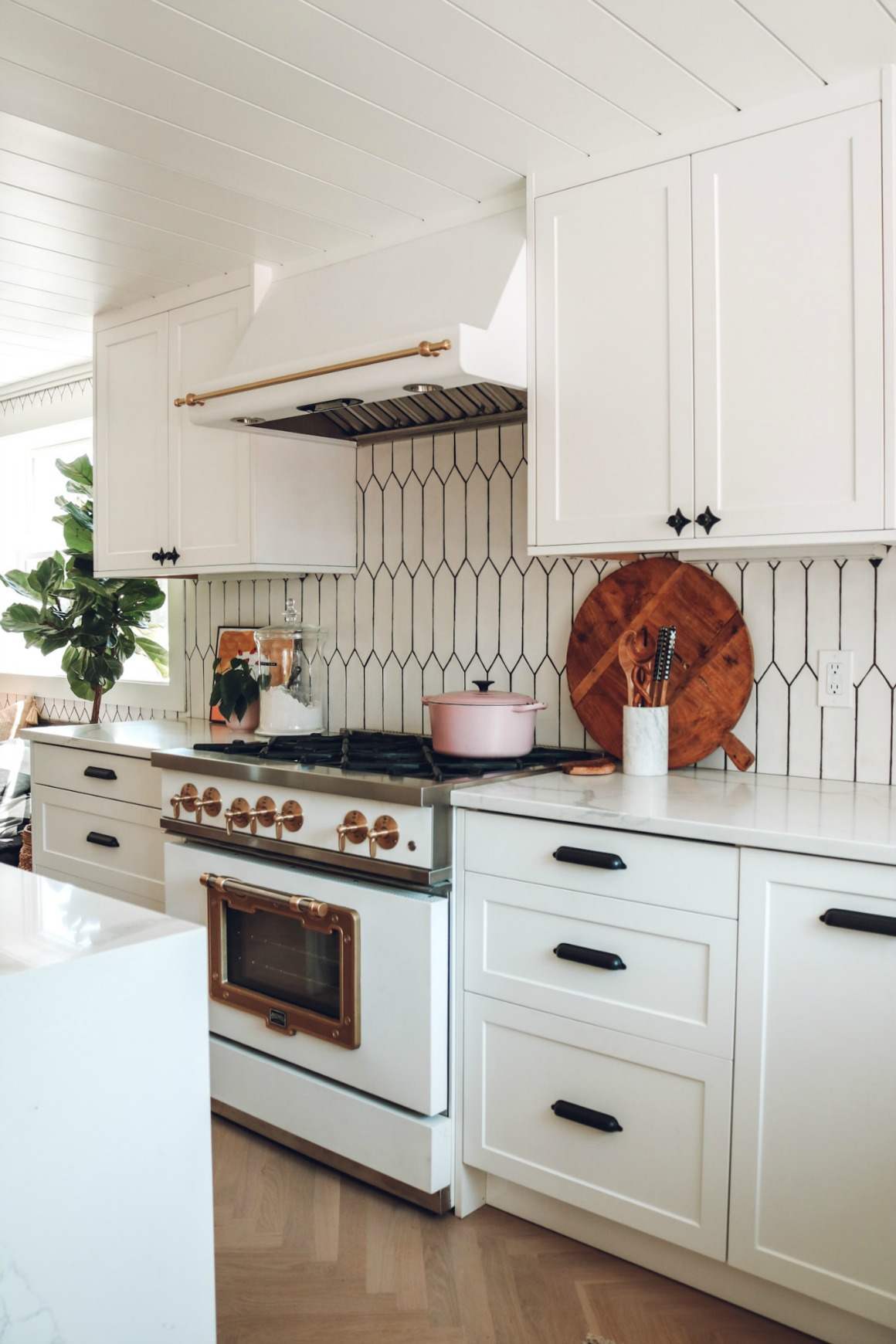 Our Kitchen Reveal What 9 Feet Does To A Kitchen Nesting With Grace