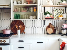Inside our IKEA Kitchen Cabinets- Organizing Ideas
