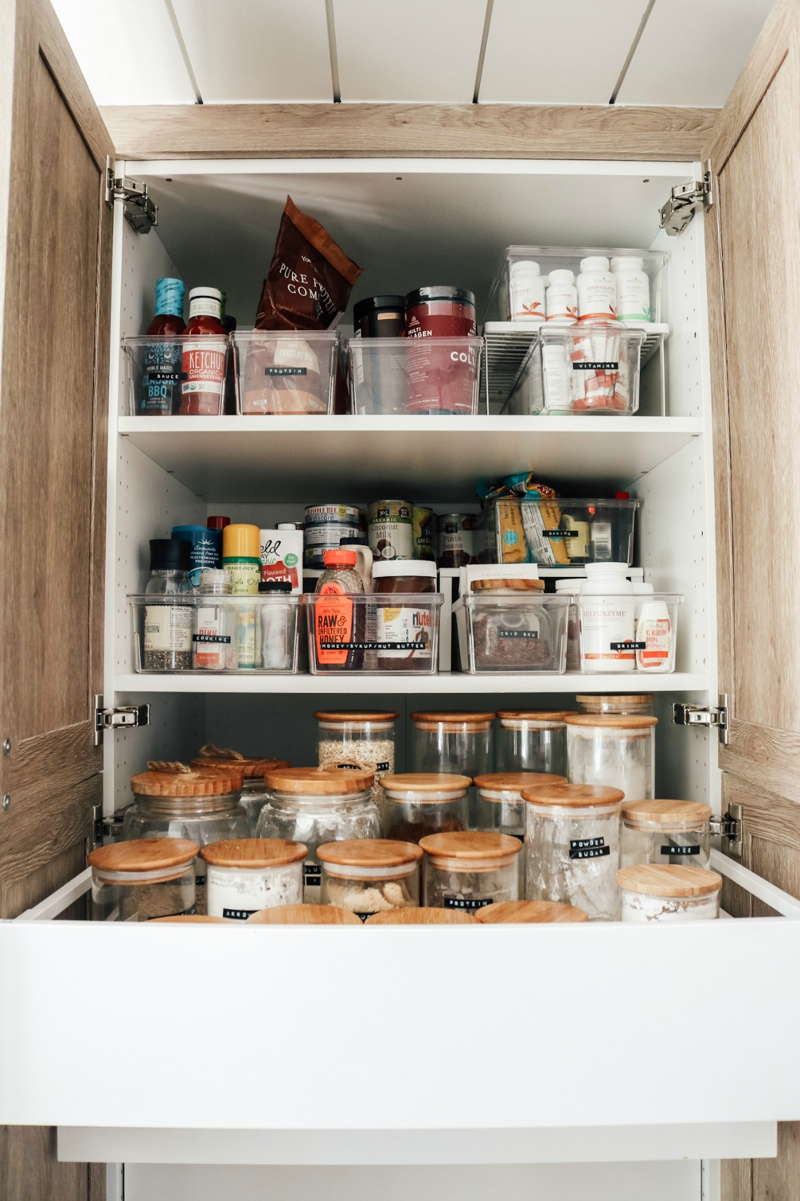 Inside Our Kitchen Cabinets Organizing Ideas Nesting With Grace
