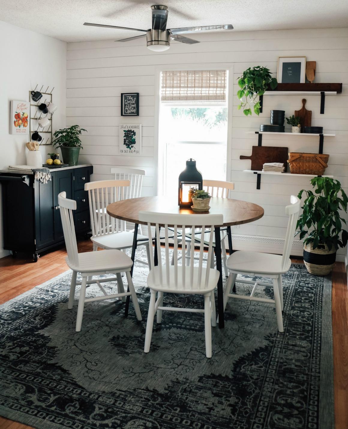 Shiplap Kitchen- Open Floating shelves- Small Kitchen-1