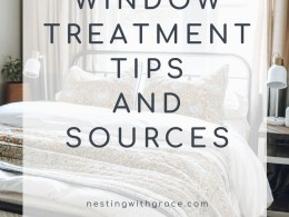 WINDOW TREATMENT TIPS AND SOURCES