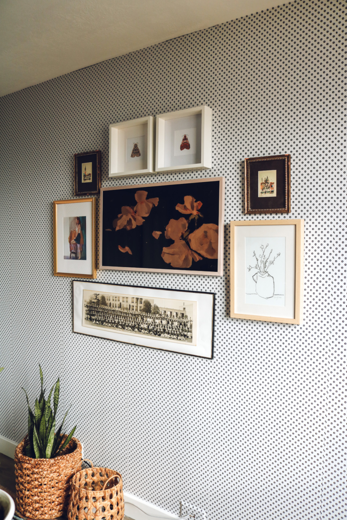 Gallery Wall with Frame TV and Favorite Art Downloads
