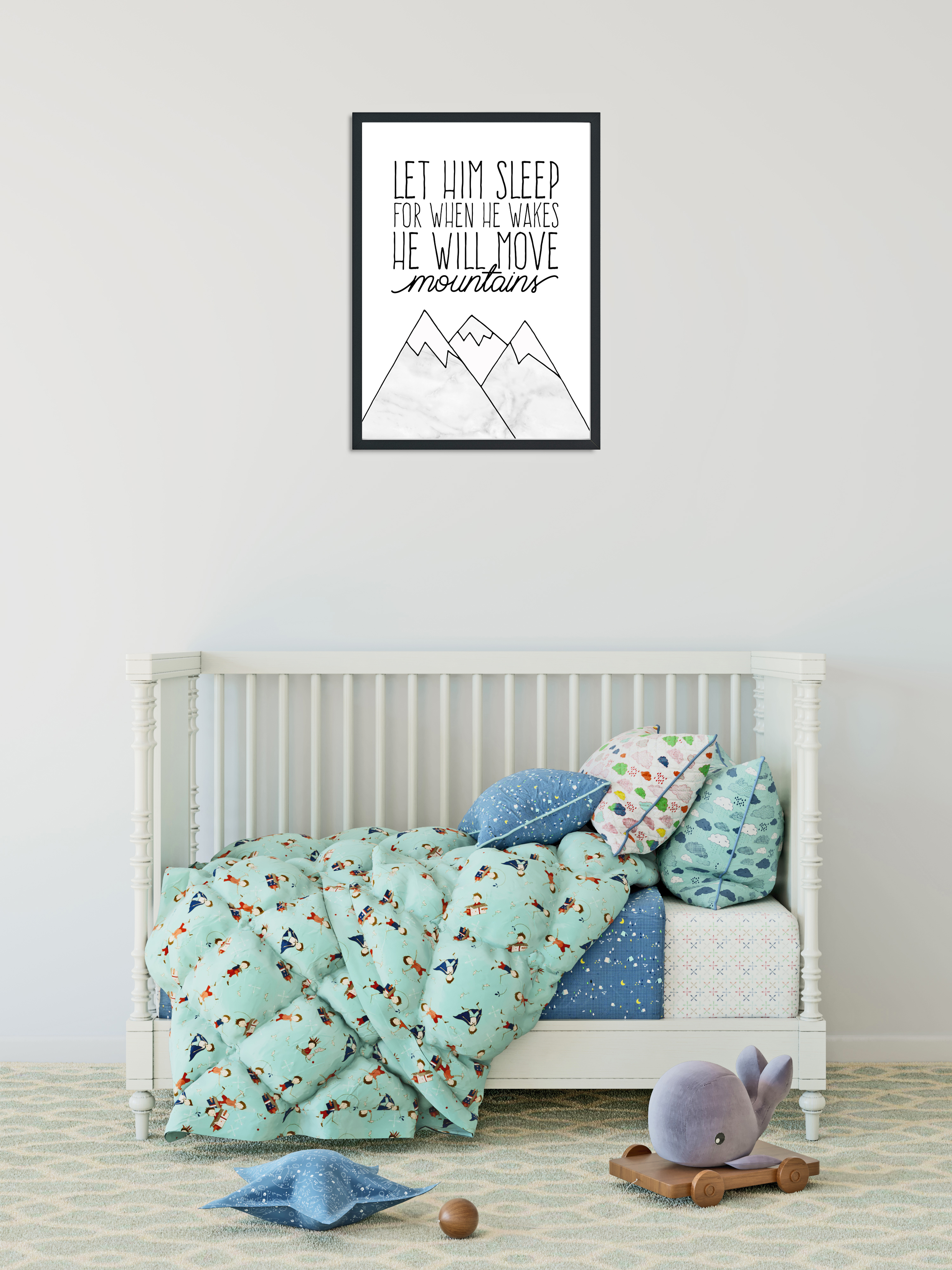 L and T Designs Mountains print