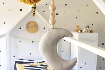 Bowie's Room: Monochrome + Mustard and Grey