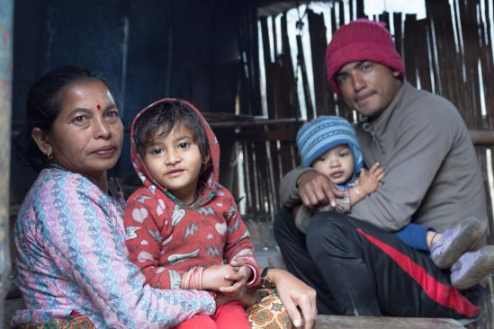 Guest house owners in the Himalayas, Nepal