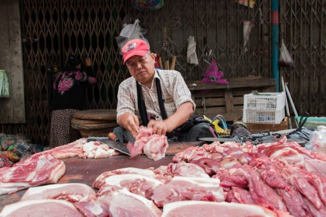 Meat markets smell the same everywhere