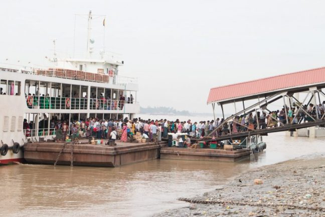 Ferry crossing over the Yangon river