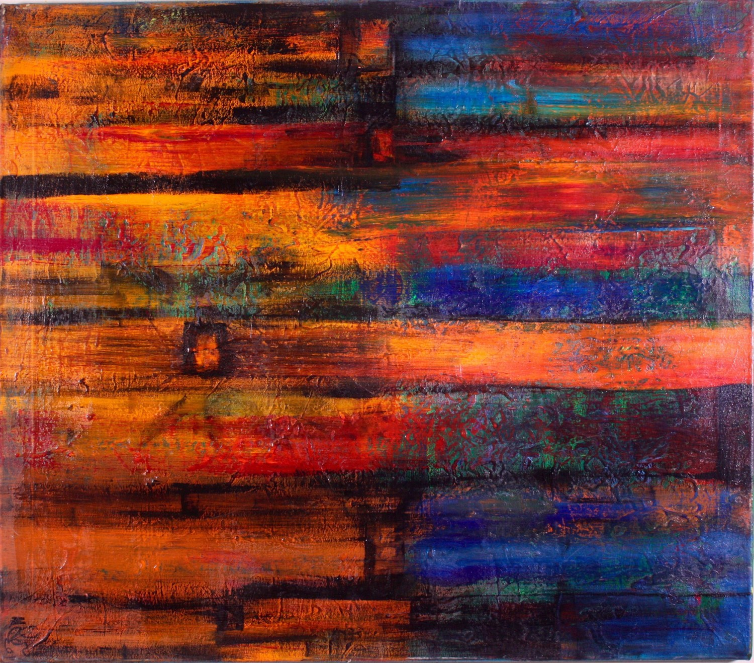Abstract painting recently sold by abstract artist Nestor Toro