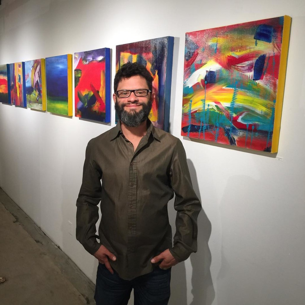 Nestor Toro artwork shown in Los Angeles at the Fold gallery
