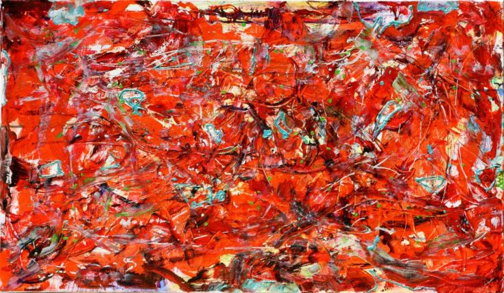 """Sold artwork """"Magic-imposition"""" by artist Nestor Toro painted in 2009"""