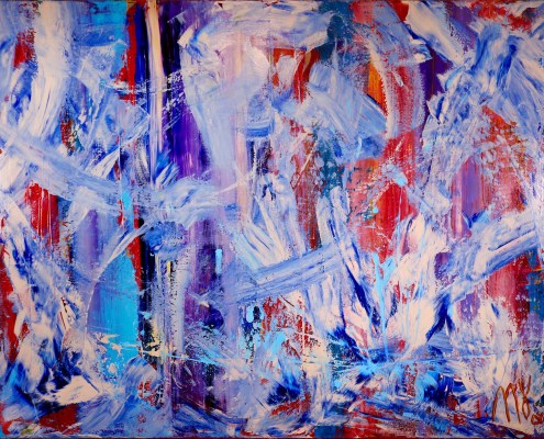 Sold painting by Los Angeles abstract painter Nestor Toro