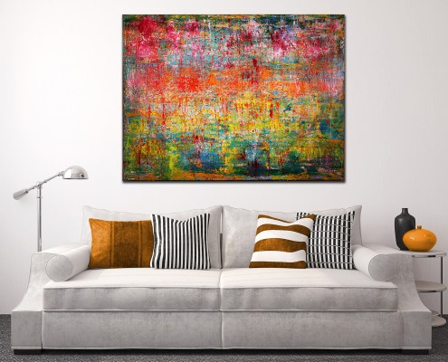 "SOLD artwork ""Infinity Field"" by abstract painter Nestor Toro"
