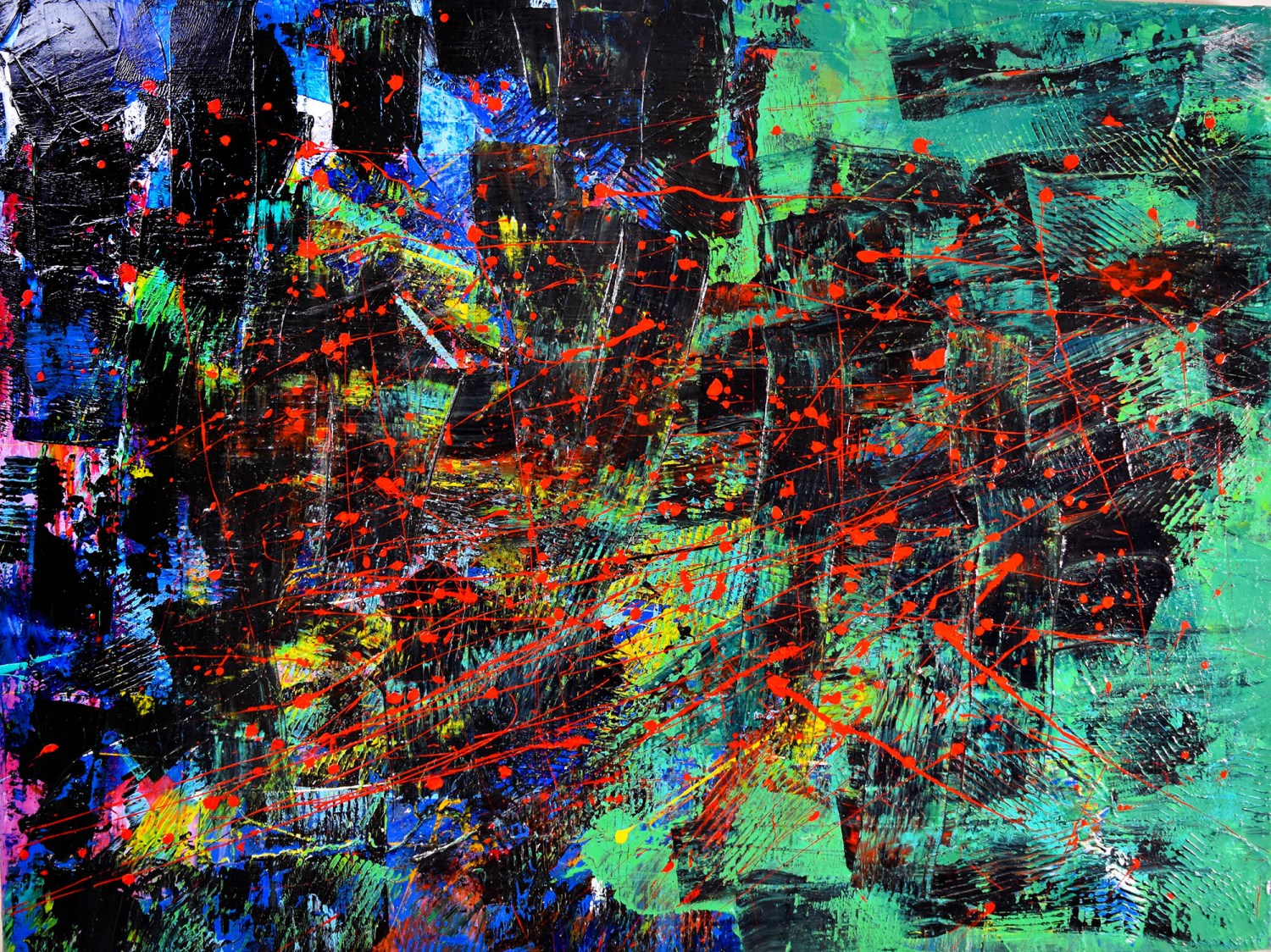 """""""IRON RUST PARTICLES"""" SOLD Artwork by Los Angeles abstract painter Artist - Nestor Toro created in 2015 and sold in 2016 to private collector"""