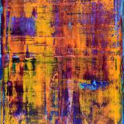 SOLD - Memories and Fire - abstract painting by L.A. artist - Nestor Toro