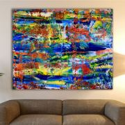 Fragmented Spectra 2 SOLD artwork by painter Nestor Toro