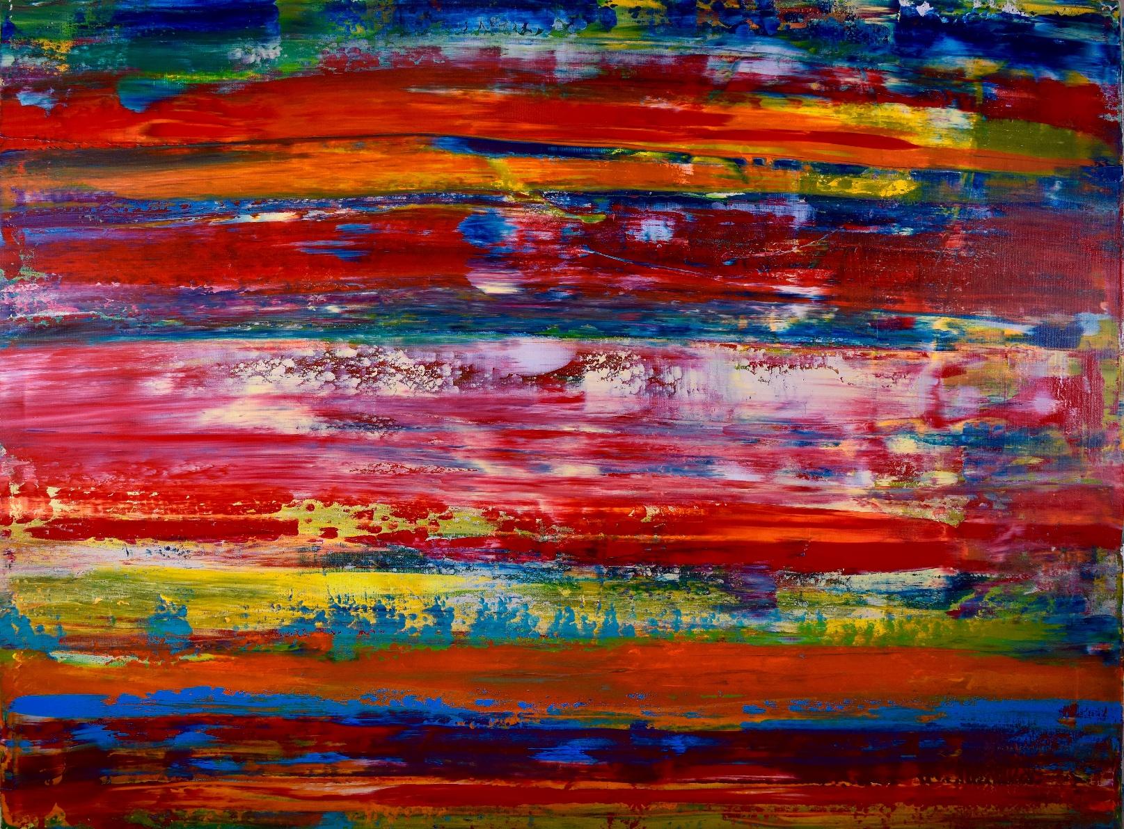 Volcanic Terrain(Fiery layers) - SOLD - artist Nestor Toro