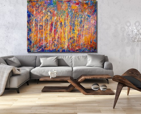 SOLD abstract painter artist LA Nestor Toro this is called Infinite Dimensions 2
