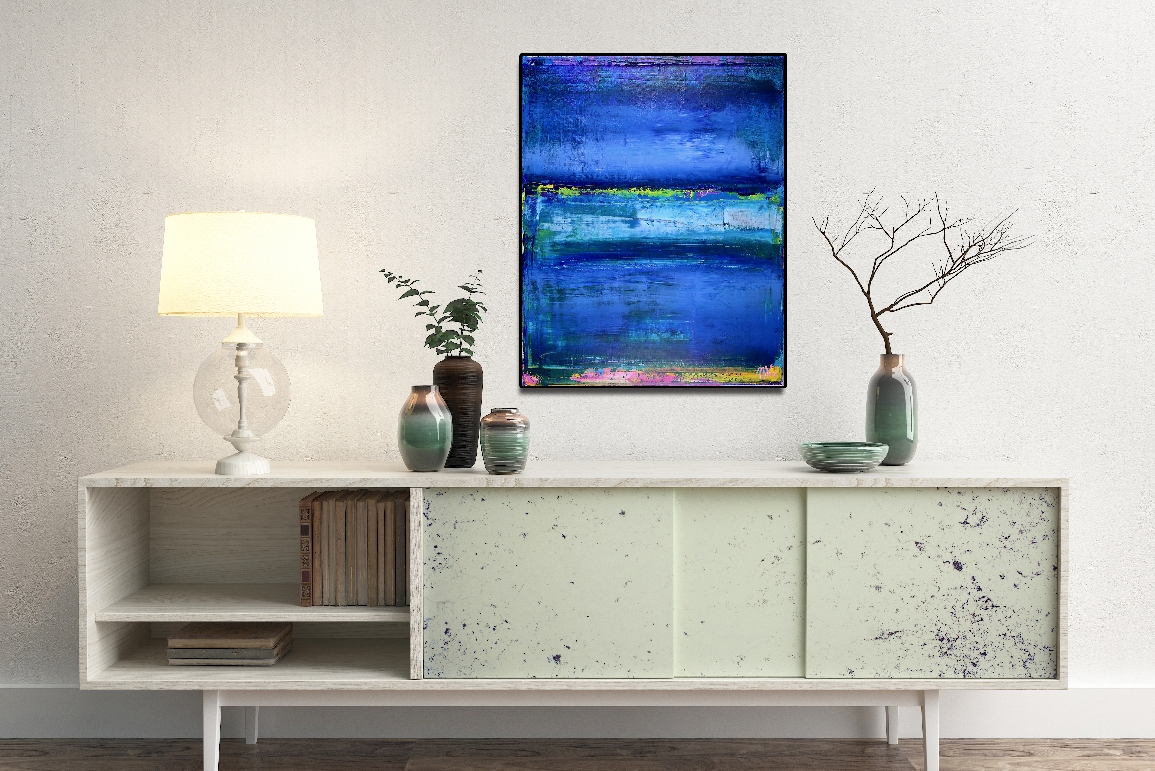 Azure - SOLD abstract by Nestor Toro
