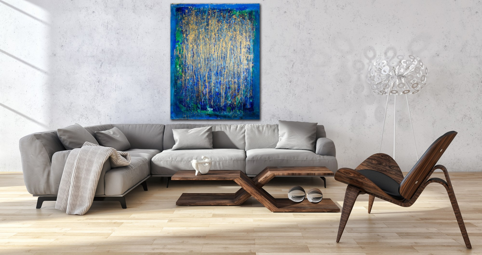 Drizzles 3 (2016) Mixed Media painting by Nestor Toro
