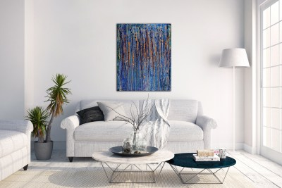 Drizzles II (2015) Acrylic painting by Nestor Toro