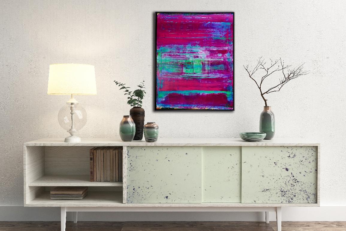 Translucent Purple Escapade by abstract painter Nestor Toro