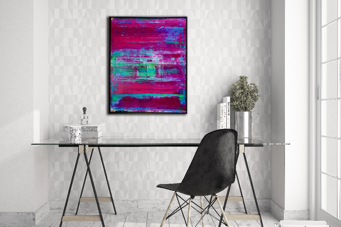 Translucent Purple Escapade by abstract painter Nestor Toro