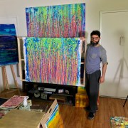 Los Angeles abstract artist - Painter Nestor Toro