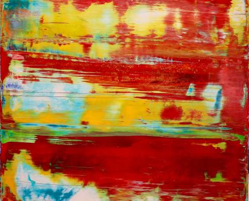 SOLD Abstract Colorfield - A Sunny Day (2017) Acrylic painting by Nestor Toro