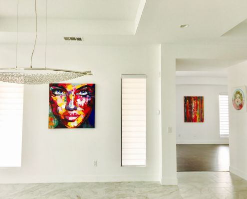 SOLD painting by Los Angeles abstract artist Nestor Toro