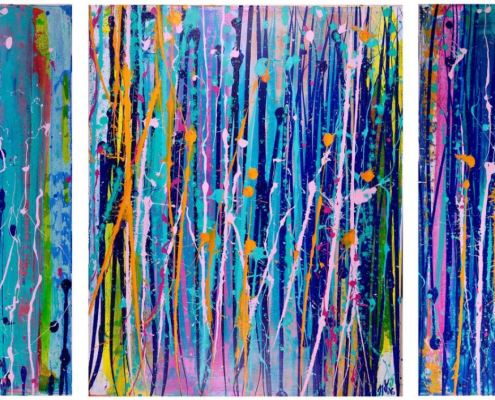 SOLD - Interrupted Abstract Landscape IV my Los Angeles abstract artist - painter - Nestor Toro
