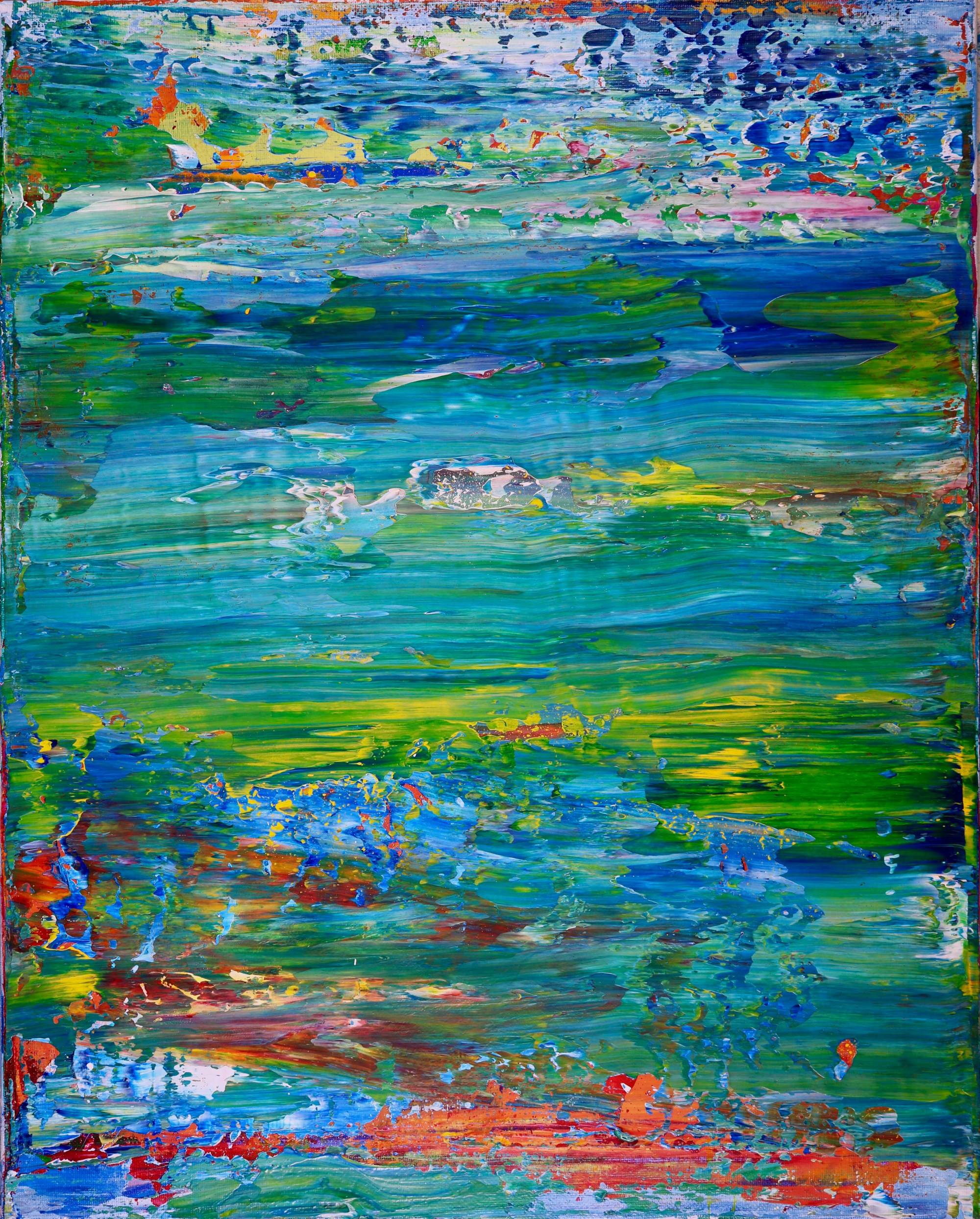 Caribe - Abstract Landscape (2017) Acrylic painting by Nestor Toro