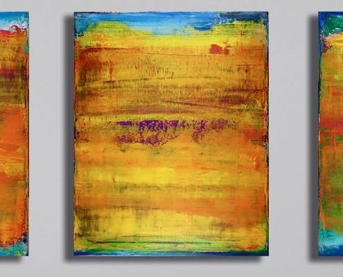 SOLD - Sunset Reflections 1 (2017) Acrylic painting by Nestor Toro in Los Angeles
