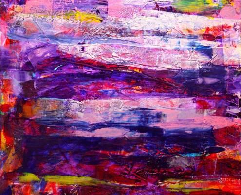 SOLD - Thunder Noise (2015) Mixed Media painting by Nestor Toro