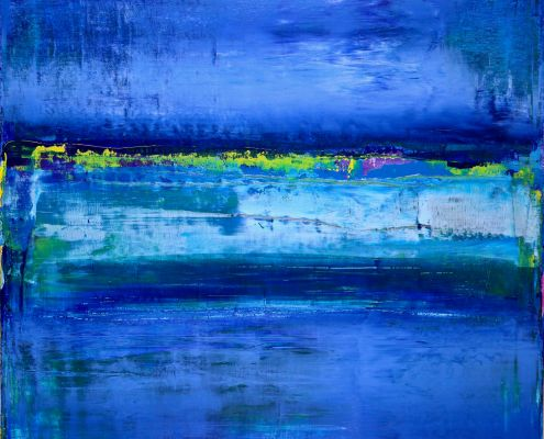 Azure-Horizon Line by Nestor Toro in Los Angeles - SOLD