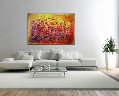 SOLD Abstract Allure II (2015) Mixed Media painting by Nestor Toro $3,860 Sold