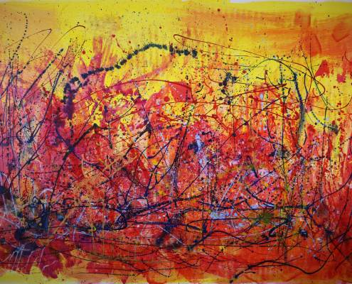 SOLD - Abstract Allure II (2015) Mixed Media painting by Nestor Toro $3,860 Sold