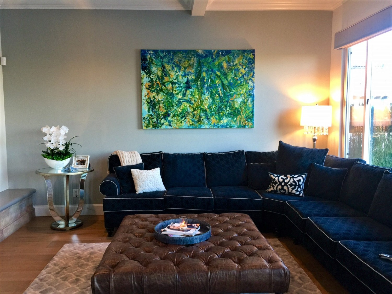 SOLD - Terra Verde in collector's beautiful home in Long Beach California - Abstract art by Nestor Toro