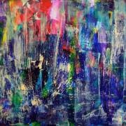 SOLD - Underwater-colorfield-SOLD-abstract-art-Nestor-Toro-Los Angeles