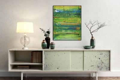 Dimensional Green 3 by Nestor Toro
