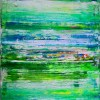 SOLD - Abstract Painting - After the afternoon rain (2017) by Nestor Toro