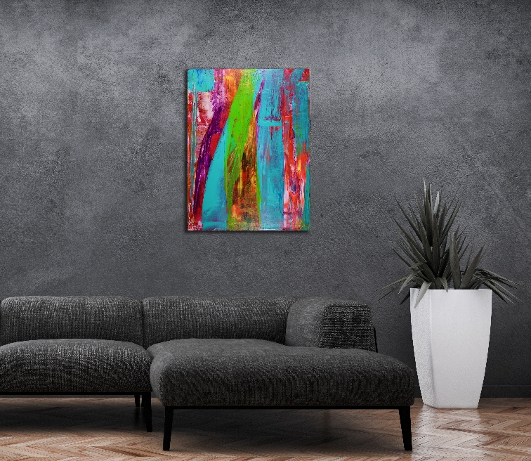 Silent Falling Tree by Nestor Toro - internationally collected abstract artist