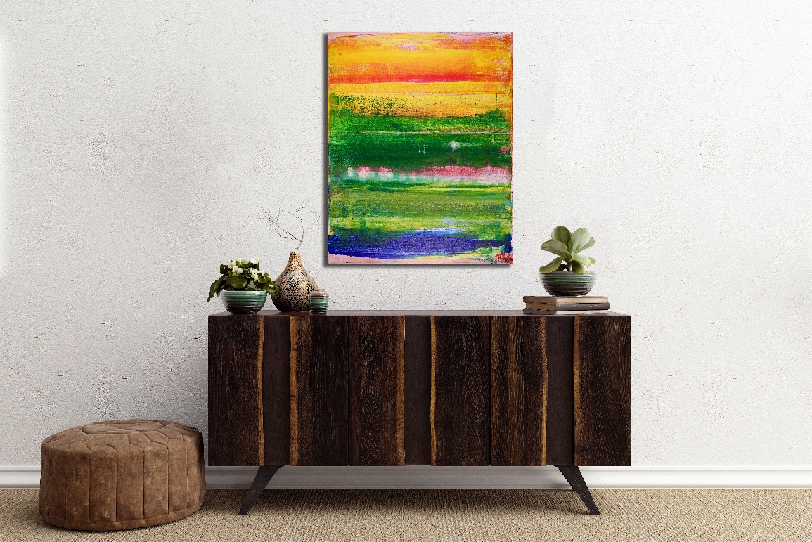 SOLD - Sunny Retreat by Los Angeles abstract artist - painter - Nestor Toro
