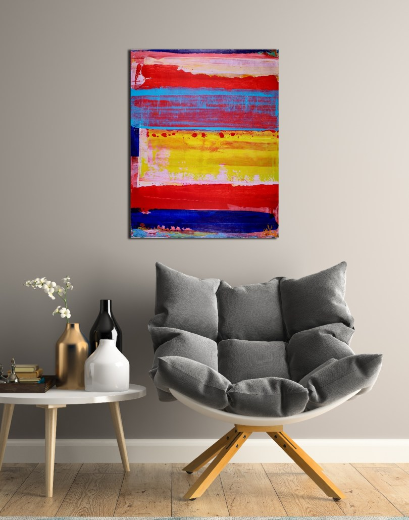 SOLD - Thinking out loud - acrylic abstract painting by Nestor Toro in Los Angeles