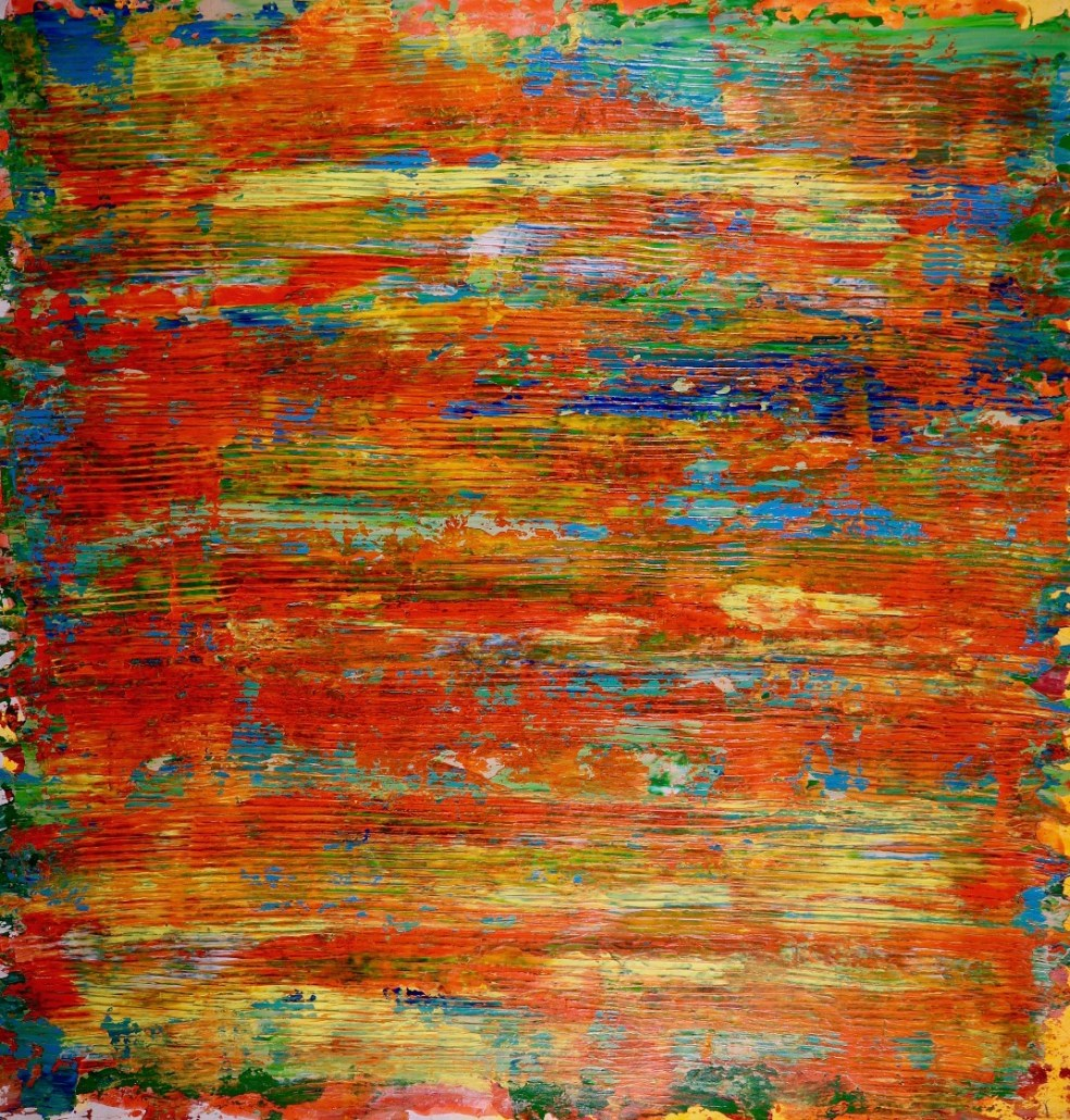 SOLD - Flying over tropics (2017) Acrylic painting by Nestor Toro - Sold