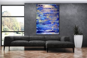 Gold Creek by abstract artist - Nestor Toro