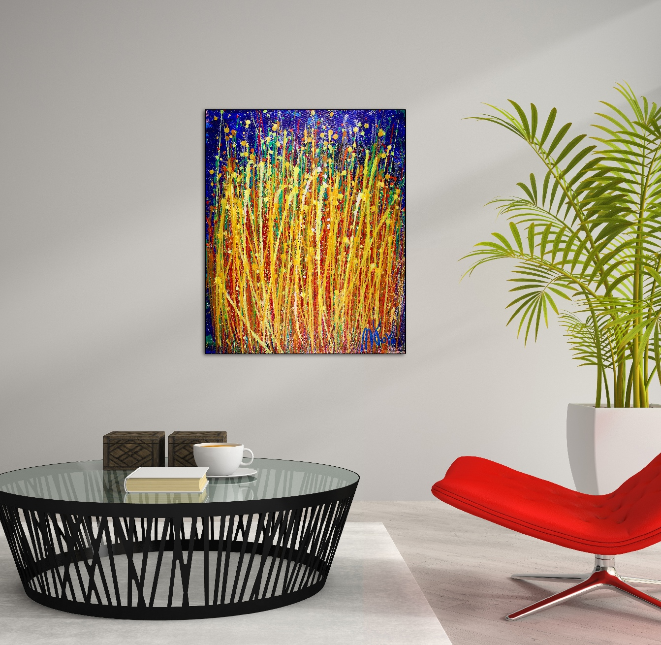 Drizzles In Motion by abstract artist painter - Nestor Toro