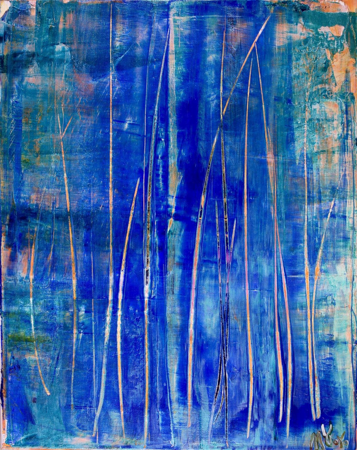 SOLD - Interrupted Frequencies (2018) - Right Canvas / Diptych / Artist: Nestor Toro
